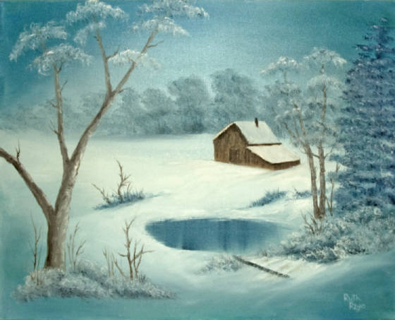 """Solitude in Snow"""