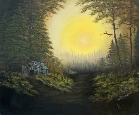 """Dawn in the Forest"""