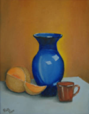 """Still Life with Blue Vase"""